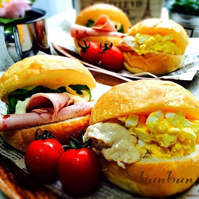 前にも投稿した手作りの蜂蜜パン! でサンドイッチ(*´艸`)  挟んだハムはスタバ、アンデルセン、ドンクでも使ってるんだよん(〃^ー^〃)  うんめーーッス! - 65件のもぐもぐ - 手作りパンで朝ごはん(*´艸`) by ハナたな