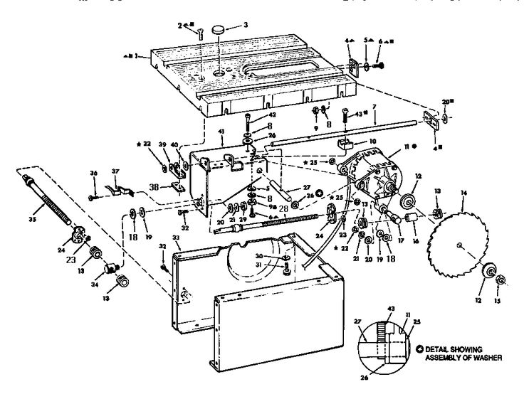 On Wiring Diagram For Craftsman Table Saw Diagrams