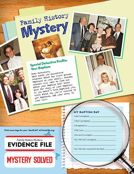 Family History Mystery: Your Baptism