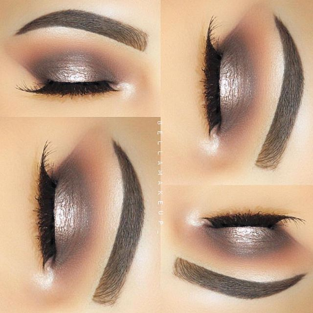 Metallic taupe @bellamakeup_ used Morphe brushes to blend away! Shop www.morphebrushes.com #TeamMorphe #Morphe