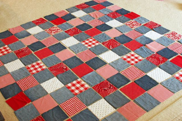 old jeans picnic quilt