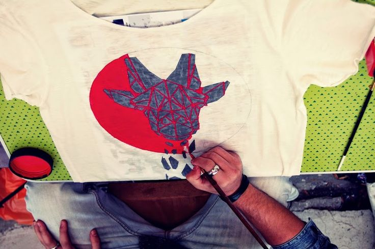 #troistone #tshirt #handmade #design #makingof #process #designer