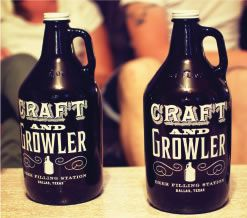 Craft and Growler in Dallas, TX - freaking love this place. Genius concept (beer filling station that has a menu of restaurants that deliver there), great environment, cool merch, amazing beer, and awesome people - owner is in there pretty much every day they're open. Getcha a growler there and fill it up!