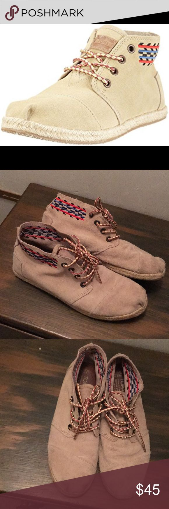 TOMS Chukka botas - highlands tribal boots Some wear but still in great condition. These shoes are awesome and super comfy and soft. Toms Shoes