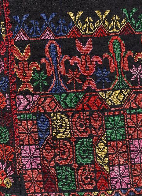 FolkCostume&Embroidery: Jean's Palestinian/Bedouin thobe