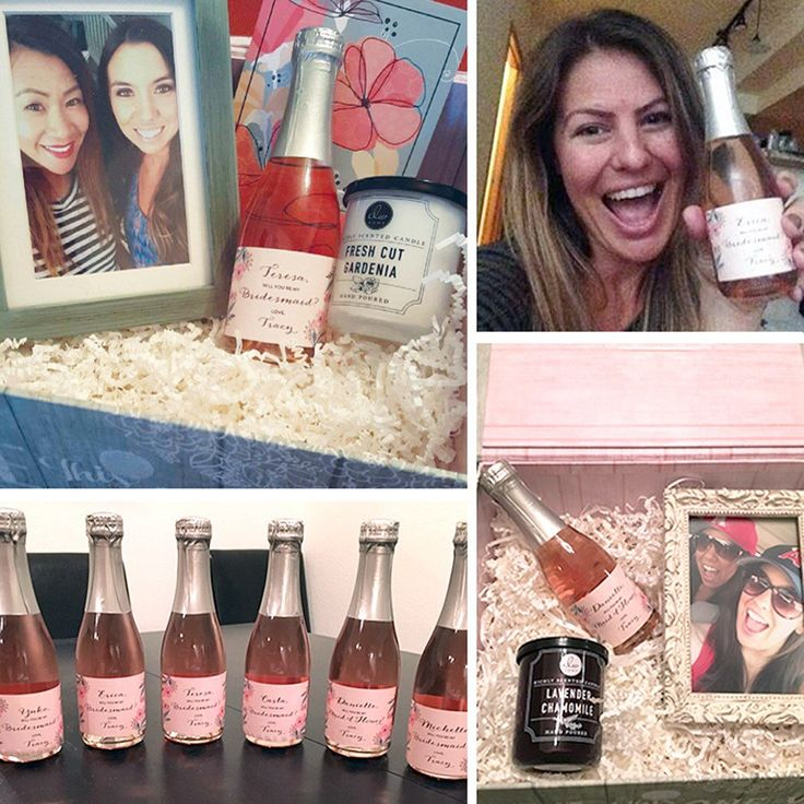 Are you looking for a sweet way to ask your Maid of Honor or Bridesmaids to be a part of your big day? Look no further! Create a bridesmaid box like our client Tracy did! It's surely a gift your ladies can't resist! 👰🍾