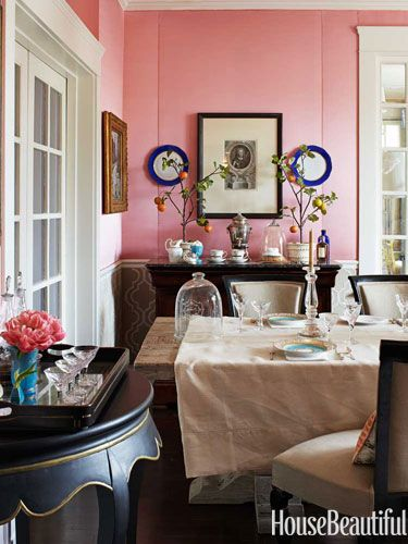 Dressed Up In Gemstone Colors. Pink Dining RoomsBeautiful InteriorsHouse ...