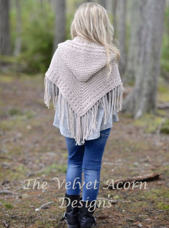 KNITTING PATTERN-The Cambric Shawl toddler child teen and