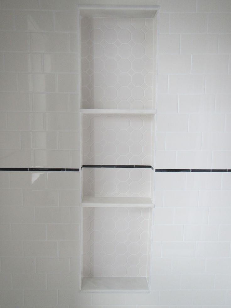 My Bathroom Reno Shower Niche Alcove With Hexagon Tile