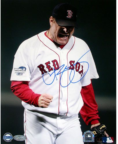 Curt Schilling 2004 WS GM 2 Pump Fist 8x10 | Products and Pump
