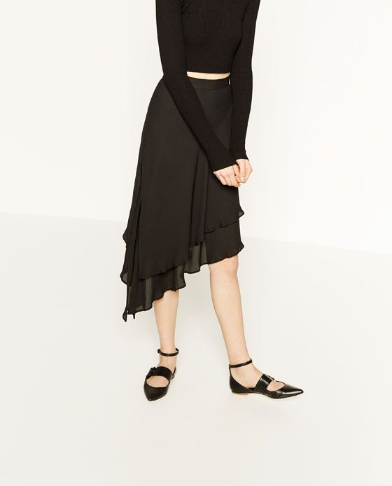 Image 3 of ASYMMETRIC SKIRT from Zara
