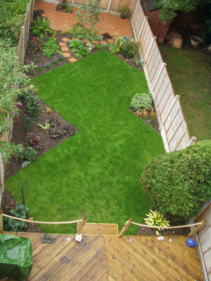24 best Long + Narrow Garden Ideas images on Pinterest ... on Long Backyard Landscaping Ideas id=61843