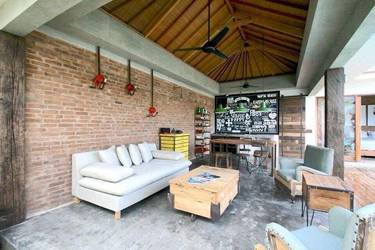 4 Quarters Bali, Villas, Private Pool, Living room, outdoor, Interior, Industrial