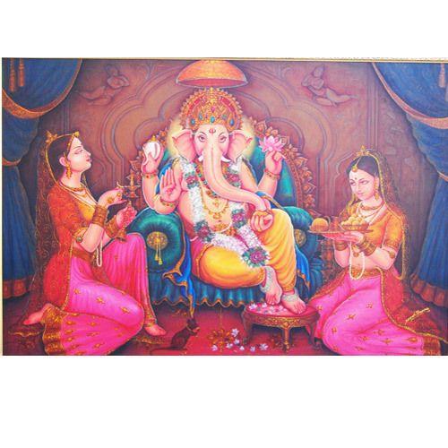 Lord Ganesha with ridhi-sidhi