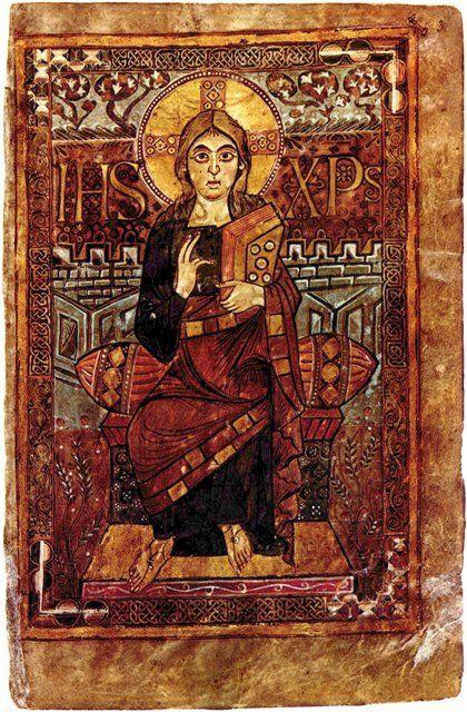 км_Евангелия Годескалька, Христос на троне