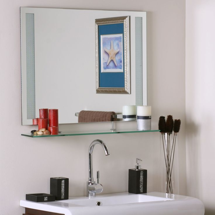 Bathroom Mirrors With Shelf: Gt