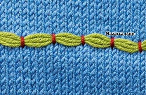 Embroidery Stitch In Knitting : 14 best Embellished Knits images on Pinterest