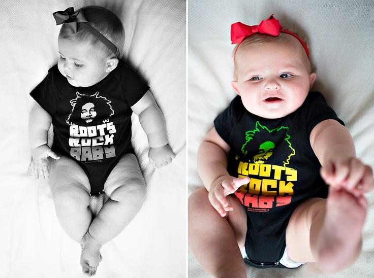 Bob Marley baby onesie for a little girl named Marley!