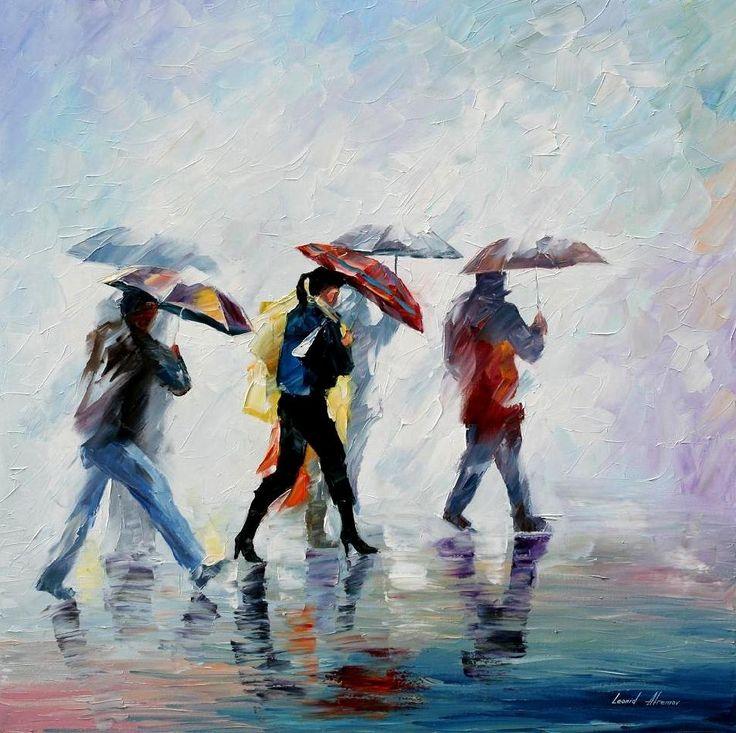 BEHIND THE FOG - PALETTE KNIFE Oil Painting On Canvas By Leonid Afremov - http://afremov.com/BEHIND-THE-FOG-PALETTE-KNIFE-Oil-Painting-On-Canvas-By-Leonid-Afremov-Size-30-x30.html?bid=1&partner=20921&utm_medium=/vpin&utm_campaign=v-ADD-YOUR&utm_source=s-vpin
