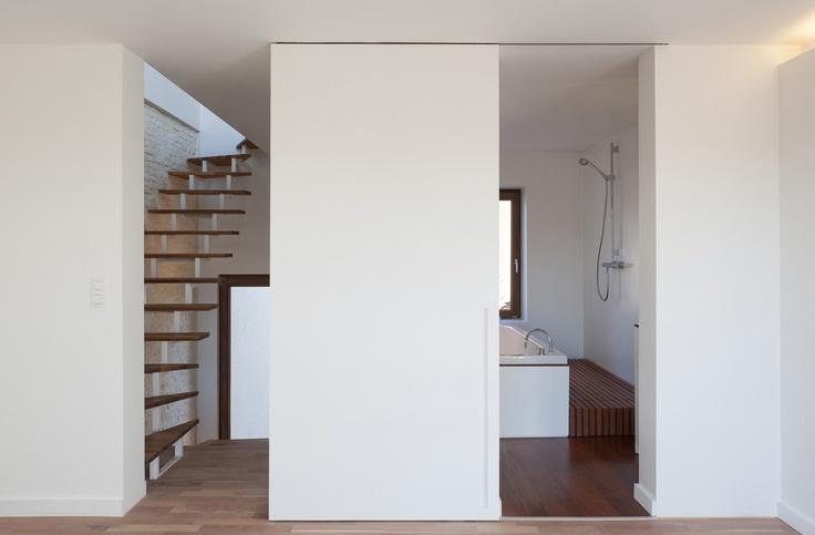 Modernized house: Families Houses, Kcv Houses, Houses Kcv, Bathroom Partition, Houses Ideas, Concerts Hall, Baeyen Architecten, Baeyen Architects, Architecture Our Houses