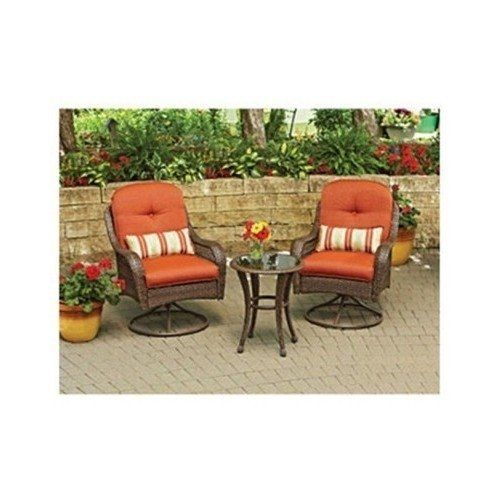 3 piece outdoor bistro set is perfect for small spaces for Balcony patio set