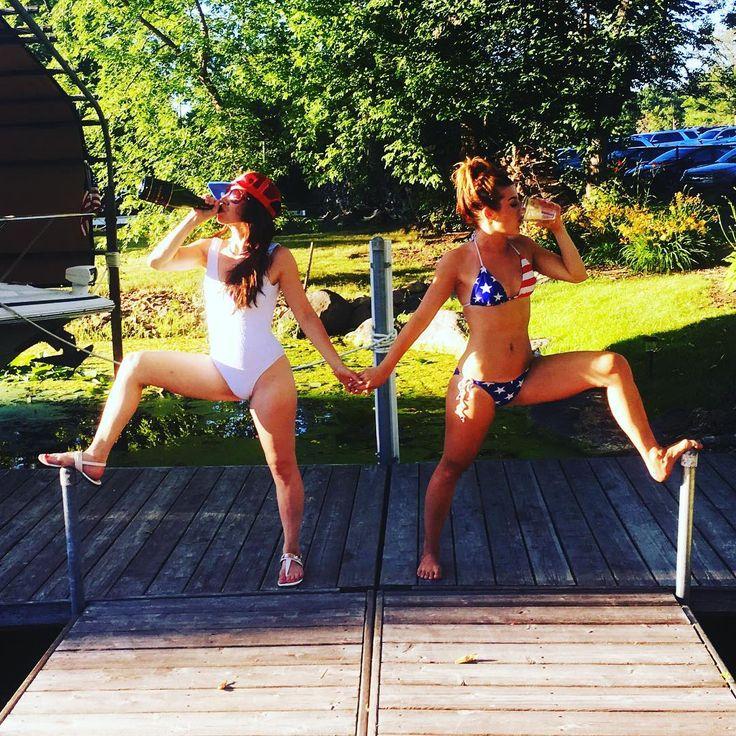 Women in quite bikinis consider