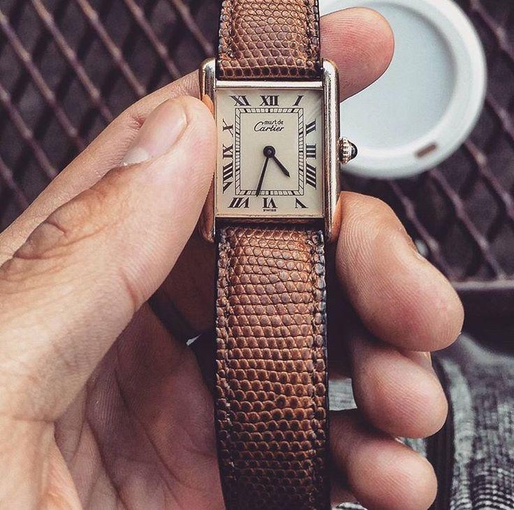 Vintage Cartier Tank Solo @dapper_watch_winders