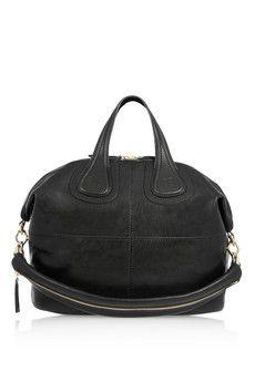 Givenchy Nightingale mittelgroße Tasche aus schwarzem Leder | NET-A-PORTER