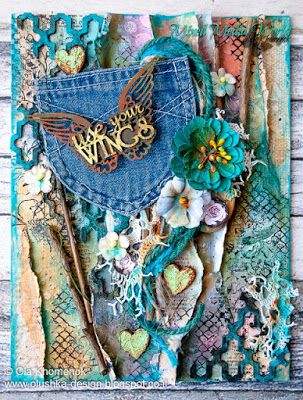 MIXED MEDIA WORLD: MMW#25: Anything Mixed Media Goes with a Twist (Moodboard)
