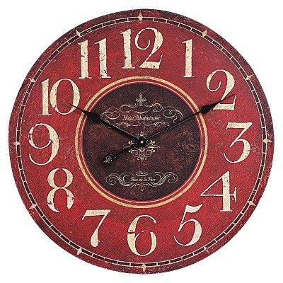Oversized Wall Clock - Red : Target Mobile