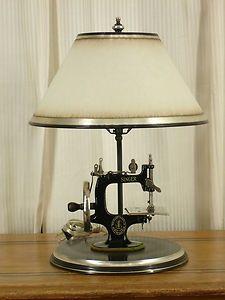 sewing machine lamp ... classy!