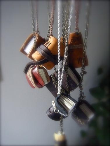 best mini book necklace tutorial I've seen yet!