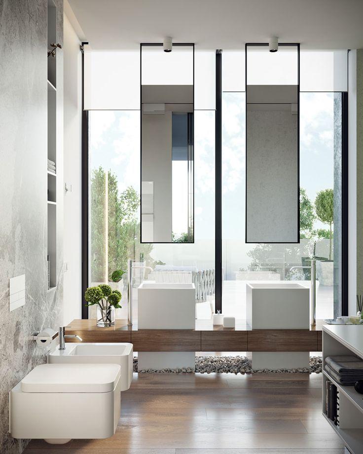 Specchio Per Bagno Doppio 10 Idee Minimal Bagno Minimalista