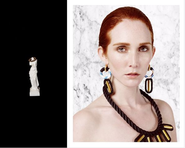 Memphis Collar Necklace and 2 Moons Earrings Buy Online: www.pichulik.com/shop