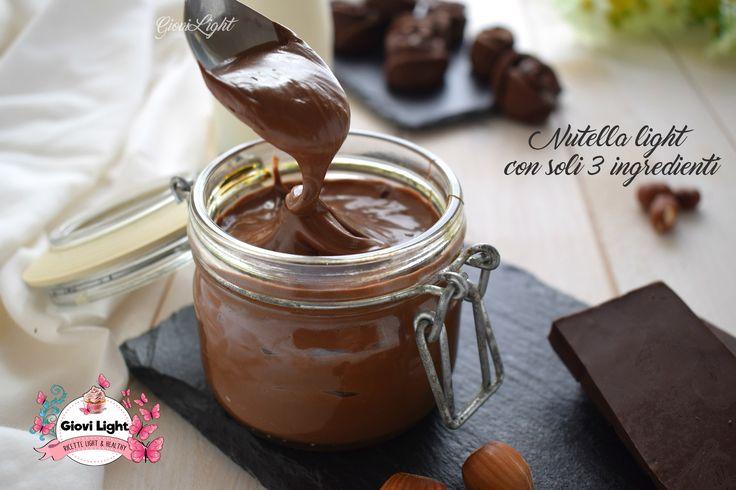 Nutella light con soli 3 ingredienti, sana e genuina, solo con ingredienti genuini e senza olio di palma, senza zucchero! Perfetta per grandi e piccini!
