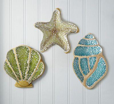 Attirant Mosaic Seashell Wall Decor