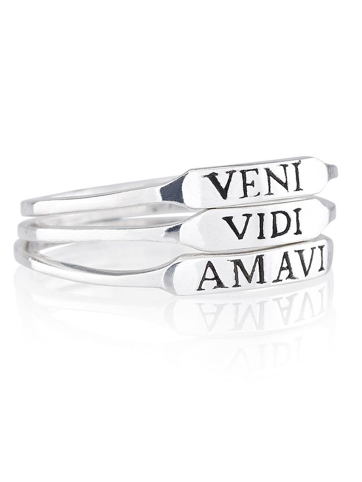 Veni Vidi Amavi- She came, she saw, she loved. Simple stacking rings with a beautiful meaning- showing the warrior in your heart. // Quotes // Love quotes // Ring set // Stacking Rings // Summer // Jewellery // Statement ring // Boho // Warrior // Shop Dixi // Bohemian // Love inspiration // Gift Ideas