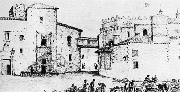 Fue construido hacia 1474, mandado por Juan de Guzmán, primer Señor de la Algaba; tenía un arquillo que unía el Palacio con el coro de la iglesia de Omnium Sanctorum, se derribó en el siglo XIX.   https://es.foursquare.com/item/5103ab1ae4b0f8cf14b91d43