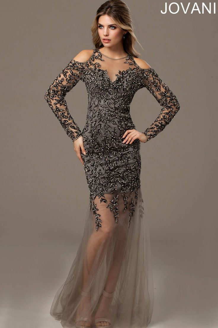 Lo Lo Lord And Taylor Party Dresses - Cold shoulder gorgeous dress 90155 evening dresses