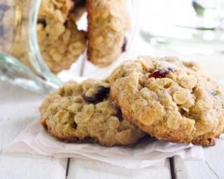 Biscuits aux flocons d'avoine et cranberries pour collation détox
