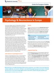 Psychology & Neuroscience in Europe  #studyabroad #travel #europe #CES #CESMaastricht #Maastrichtuniversity #exchange