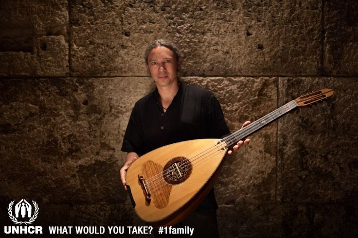 Greek Singer and songwriter, Alkinoos Ioannidis - If I were a refugee, I would take with me my lute. Its sound encapsulates my origins to a large degree. It takes me back home, no matter where I am. It epitomizes my life, while making the promise of a future, of new songs, of the life to come.-Photographer: P. Chrysovergis - Visit 1family- http://www.unhcr.org/1family/