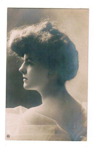 AK Frauen Porträt Junge Frau um 1900 ~ 1910 Mode Kunst