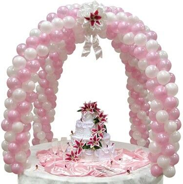 23 best images about table top balloon center pieces on for Balloon cake decoration