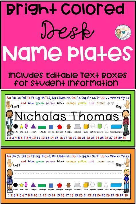 desk name plates desk name tags school desk name plates rh pinterest com