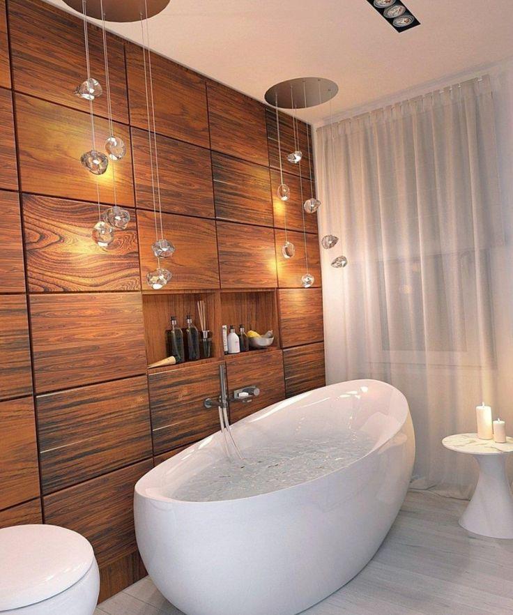 Подвесные светильники для ванной комнаты.