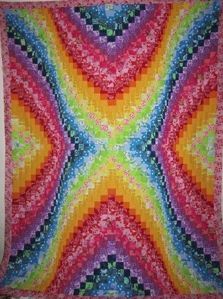 Quilting: Bargello Quilt Top 72' x 53'