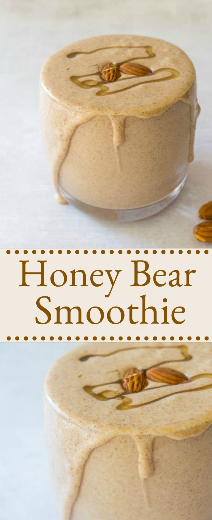 This #honey #bear smoothie is so rich in protein you can have it for breakfast or a decadent dessert.