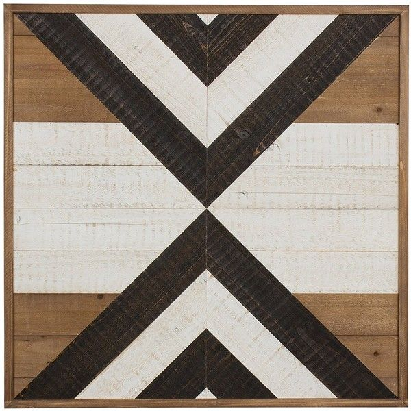 Kate and Laurel Baralt Shiplap Wood Plank Art, Black, White and Rustic... ($74) ❤ liked on Polyvore featuring home, home decor, wall art, black wall art, white home accessories, black home decor, rustic home accessories and rustic home decor