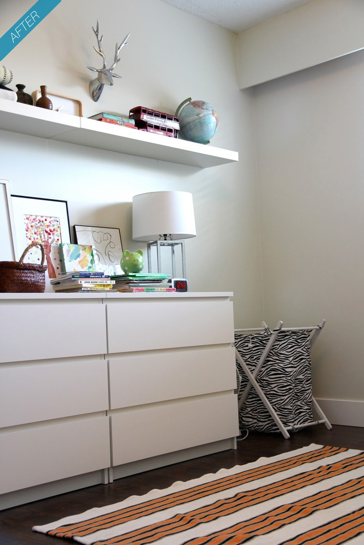 Ikea malm and lack shelf girls 39 room pinterest for Malm kommode weiay